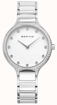 Bering Женские белые керамические циркониевые часы 30434-754