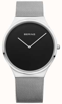 Bering Мужская классическая миланская сетчатая черная грань 12138-002