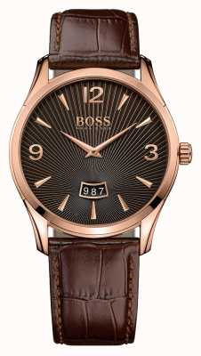 Hugo Boss Мужчины командир коричневые кожаные часы 1513426