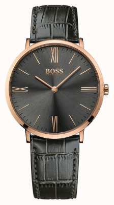 Hugo Boss Мужские джексон серые кожаные часы 1513372