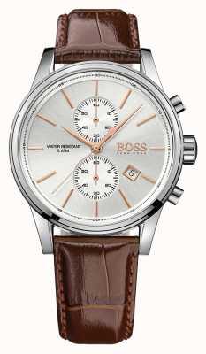 Hugo Boss Gents jet коричневая кожа chrono ex дисплей 1513280EX-DISPLAY