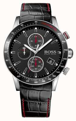 Boss Гентские часы Rafale с черным хронографом 1513390