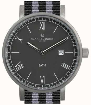 Smart Turnout Графство часов - черный с ремешком для nato STK1/BK/56/W