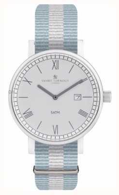 Smart Turnout Часы округа - серебро с ремешком ell STK1/SV/56/W