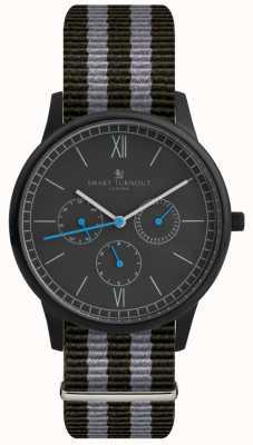 Smart Turnout Часы с часами - черные с ремешком для nato STK2/BK/56/W