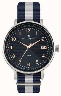 Smart Turnout Научные часы с синим ремешком STH3/BL/56/W
