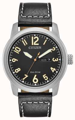 Citizen Мужская экологически чистая кожа chandler BM8471-01E