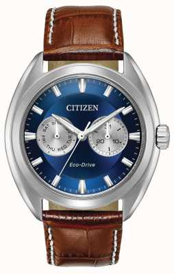 Citizen Мужской парашют синего циферблата eco-drive BU4010-05L