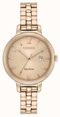 Citizen Женские эко-диски розового золота chandler EW2443-55X