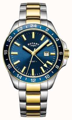 Rotary Мужская гавана gmt двухцветная синяя GB05082/05