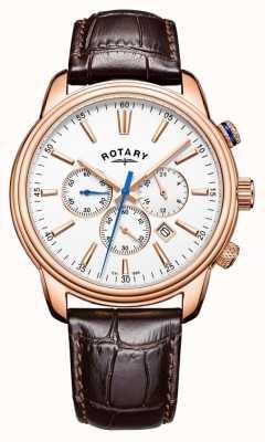 Rotary Мужская кожаная хронограф GS05084/06
