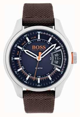 Hugo Boss Orange Мужской коричневый ремешок 1550002