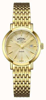 Rotary Браслет позолоченный позолоченный женский LB90156/03