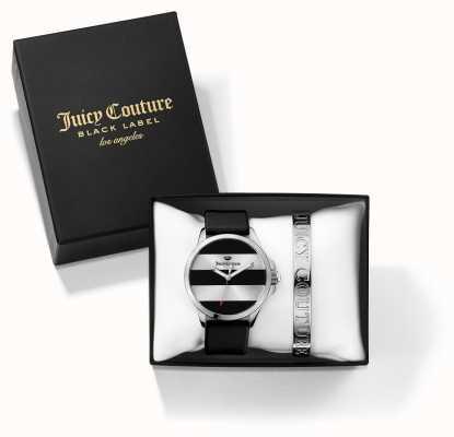 Juicy Couture Черные серебряные браслеты для женщин и часы 1950011