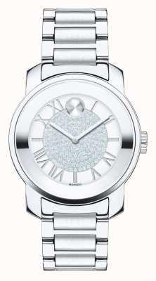 Movado Полужирный серебристый серебристый серебристый серебристый кристалл k1 3600254
