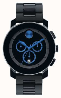 Movado Жирный большой хронограф черный tr90 композитный 3600101