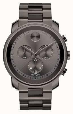 Movado Жирный большой хронограф с бронзовым сером с ионным покрытием 3600277