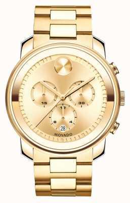 Movado Большой смелый хронограф с желтым золотом с ионным покрытием кристалла k1 3600278