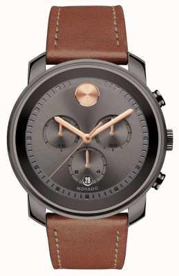 Movado Полужирный серый хронограф мужские часы 3600421