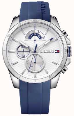 Tommy Hilfiger Мужской синий резиновый белый хронограф 1791349