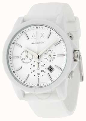 Armani Exchange Мужской синий белый хронограф силиконовый AX1325