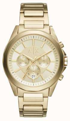 Armani Exchange Мужские золотые хронографы AX2602