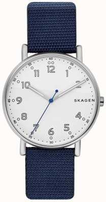 Skagen Мужская Signatur синий ремешок белый циферблат SKW6356
