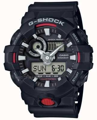 Casio Мужской g-shock будильник хронограф черный GA-700-1AER
