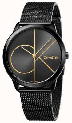 Calvin Klein Мужская минималистичная черная сетка из нержавеющей стали K3M214X1