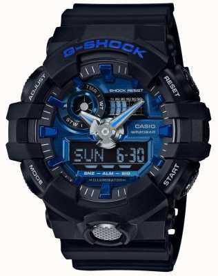 Casio Мужской g-shock будильник хронограф синий GA-710-1A2ER