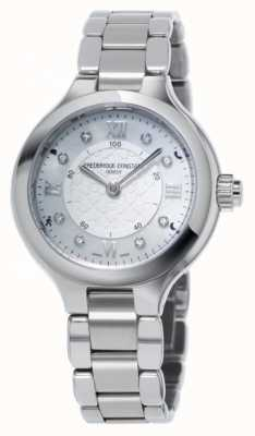 Frederique Constant Женщины наслаждаются часовым серебром серебра FC-281WHD3ER6B