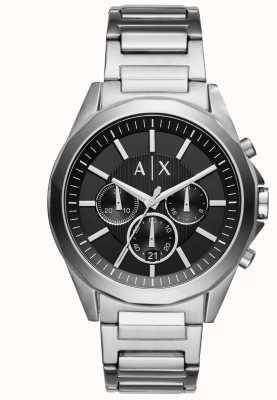 Armani Exchange Черный хронограф из нержавеющей стали AX2600