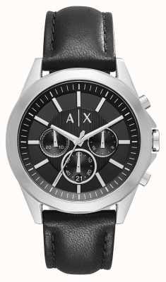 Armani Exchange Черный хронограф мужской кожи AX2604