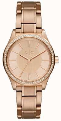 Armani Exchange Женские часы из розового золота AX5442