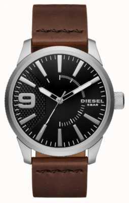 Diesel Мужская раскол черный и нержавеющая сталь DZ1802