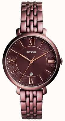 Fossil Женская жаккардовая покрытая нержавеющая сталь ES4100