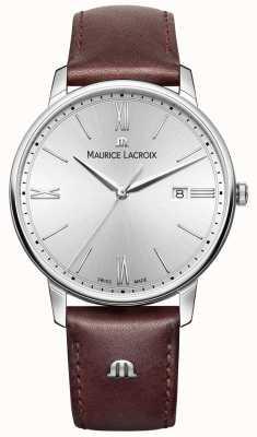Maurice Lacroix Мужской серебристый кожаный ремешок серебристого набора EL1118-SS001-110-1