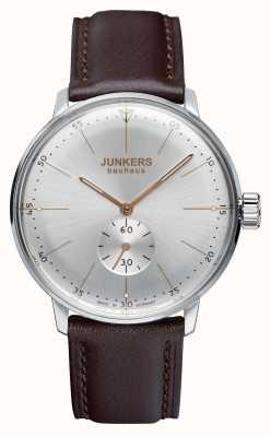 Junkers Мужская баухаус ручной кожаный ремешок серебристый циферблат 6032-5
