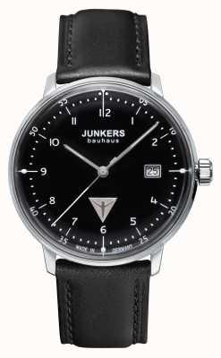 Junkers Черный черный кожаный ремешок для мужчин bauhaus 6046-2