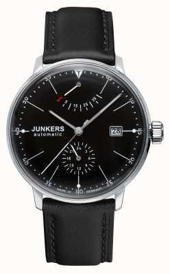 Junkers Автоматический черный кожаный ремешок для мужчин bauhaus черный 6060-2