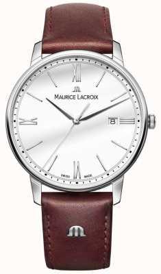Maurice Lacroix Элирос мужские коричневые кожаные ремешок смотреть EL1118-SS001-113-1