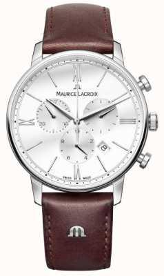 Maurice Lacroix Eliros мужской хронограф коричневая кожа EL1098-SS001-112-1