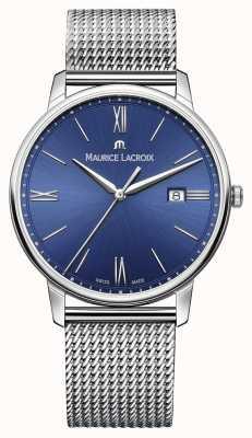 Maurice Lacroix Mens eliros браслет сетчатый ремень синий EL1118-SS002-410-1