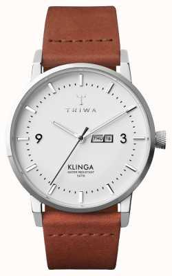 Triwa Мужской снег klinga коричневый классический KLST109-CL010212