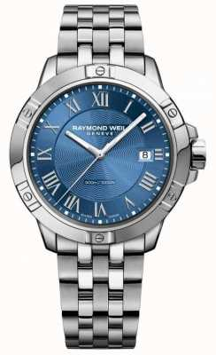 Raymond Weil Мужские стальные танго, синий циферблат серебристый / синий 8160-ST-00508