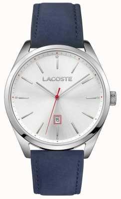 Lacoste Mens san diego синий кожаный ремешок серебристый циферблат 2010909