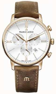 Maurice Lacroix Mens eliros хронограф коричневый теленок кожаный ремешок EL1098-PVP01-113-1