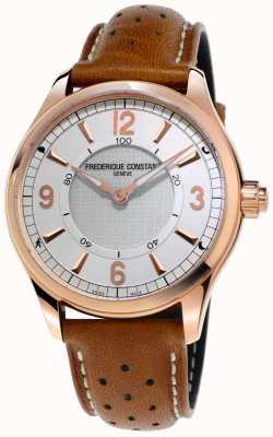 Frederique Constant Мужские часы smartwatch bluetooth коричневый кожаный ремешок FC-282AS5B4