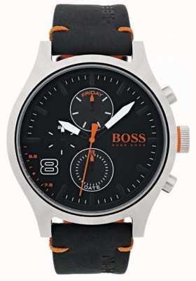 Hugo Boss Orange Мужская амстердамская черная кожа 1550020