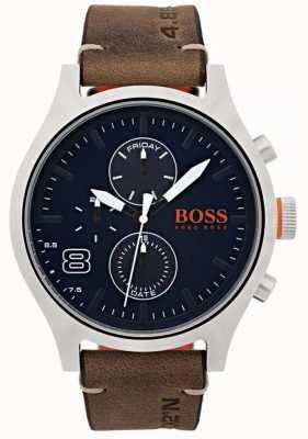 Hugo Boss Orange Мужская амстердамская коричневая кожа 1550021